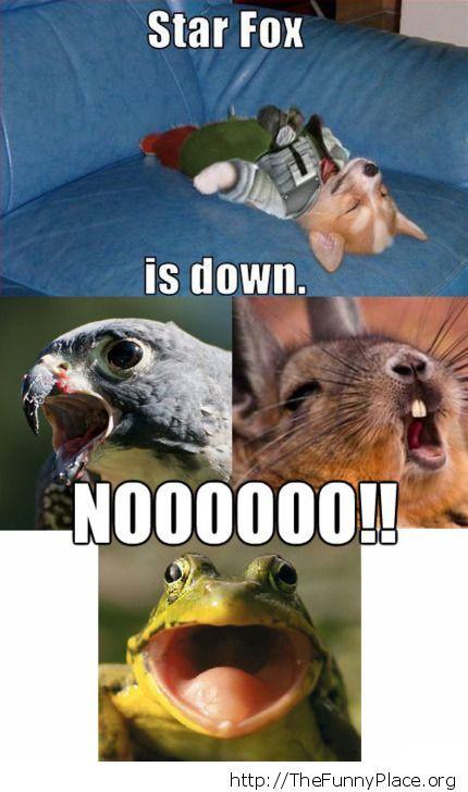 Funny fall of Star Fox