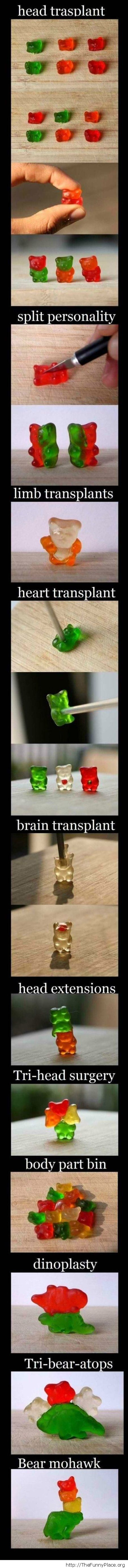 Funny gummy bears