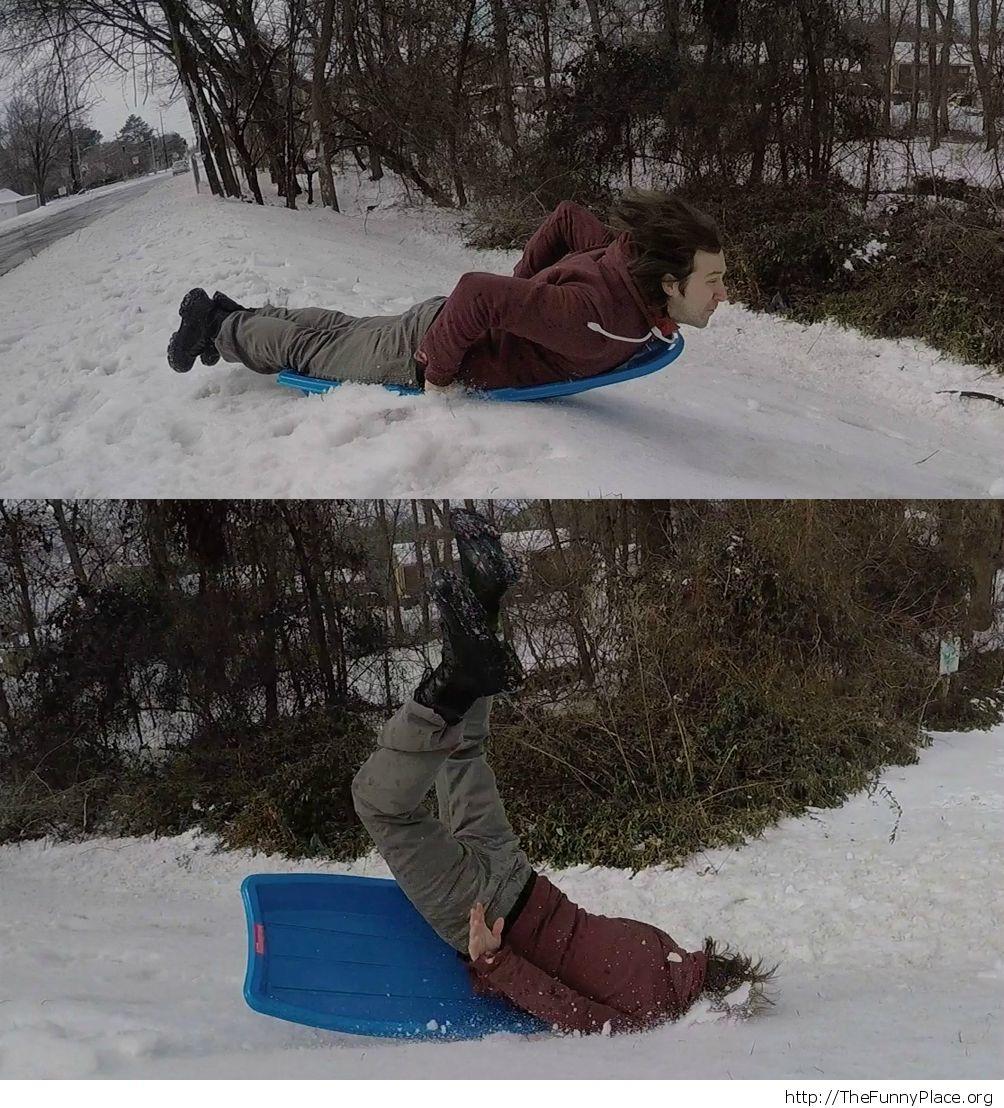 Having fun in winter time