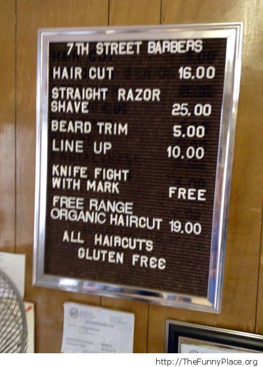 Organic haircuts