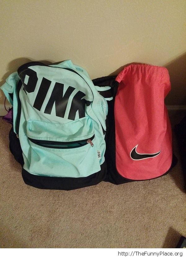 She asked me to bring her pink bag