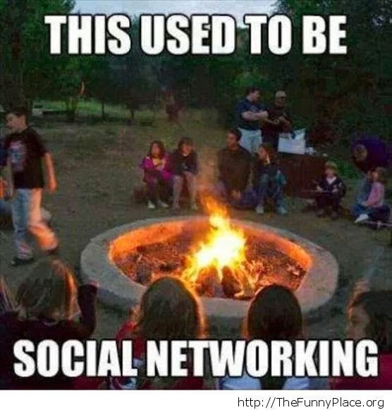 Social networking back then