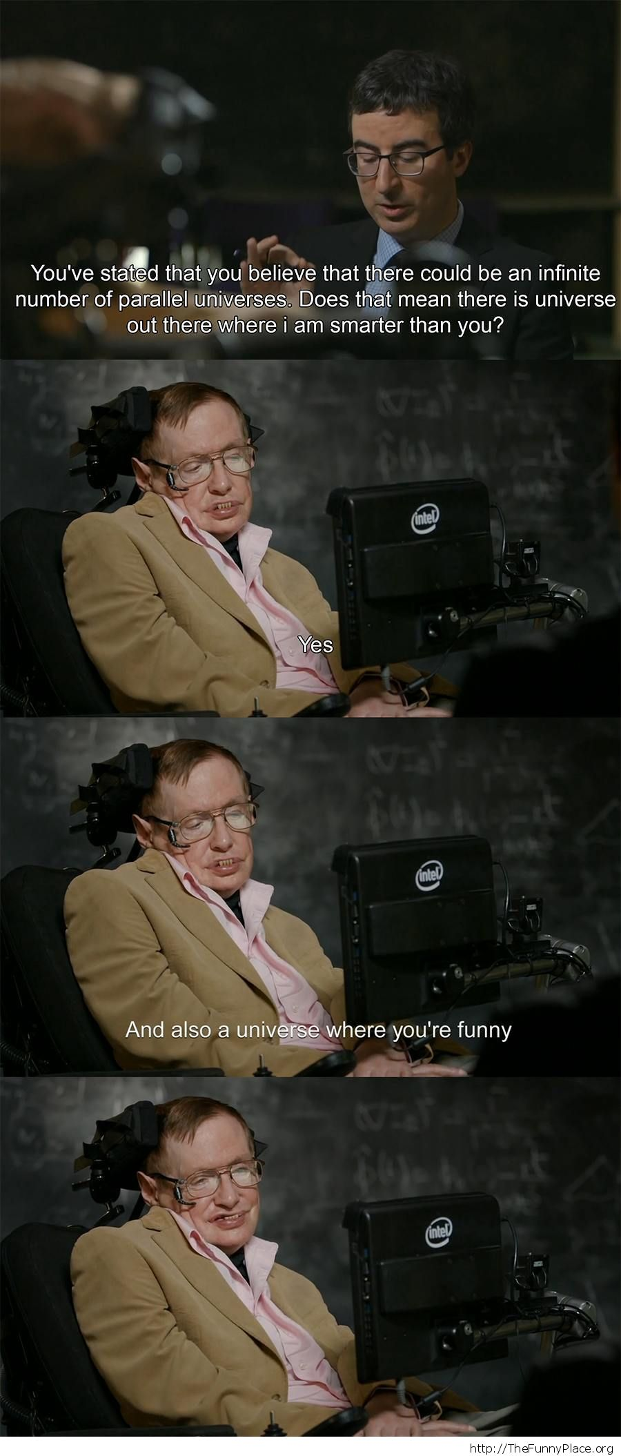 Stephen Hawking and John Oliver