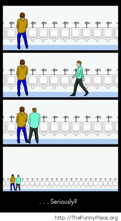 At the public bathroom