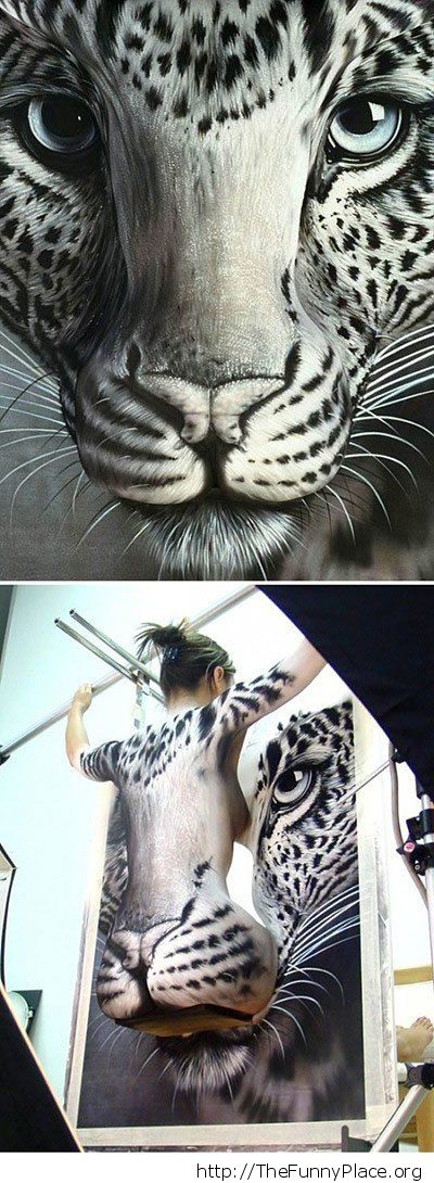 Awesome tiger painting