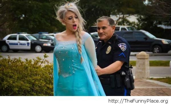 Elsa was arrested