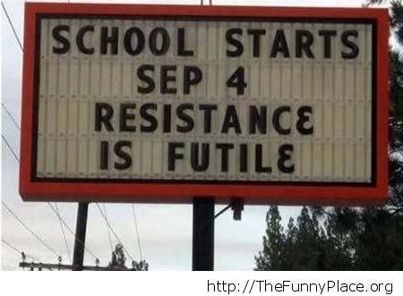 Funny school resistance
