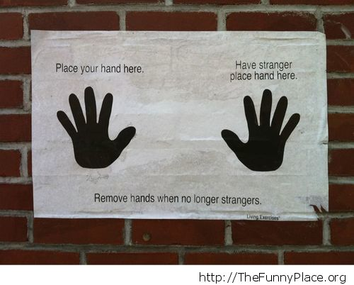 Place your hand here