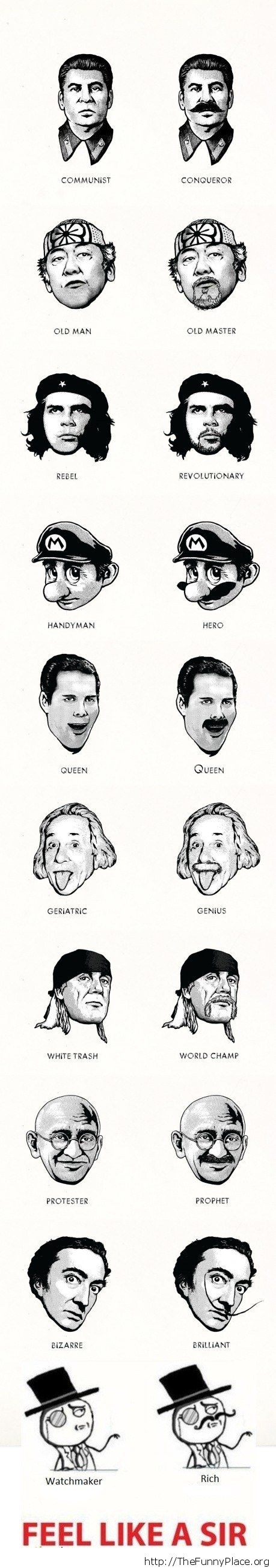 The power of a mustache