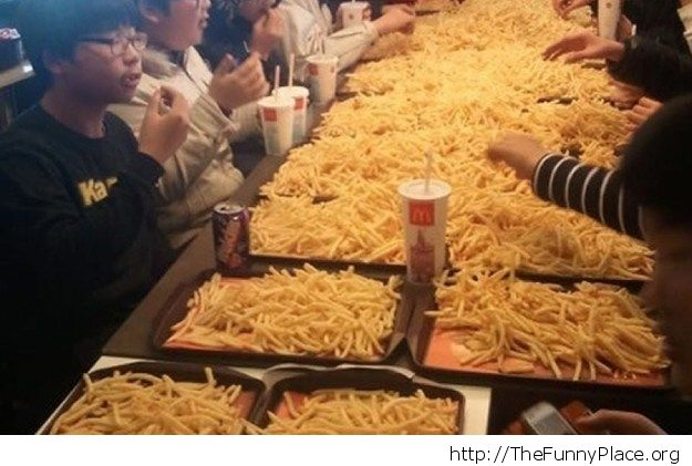 We have fries for free