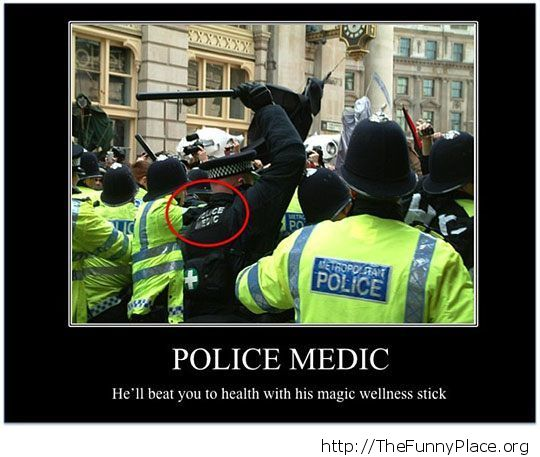 What a police medic does