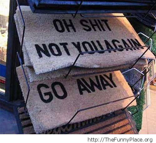super funny doormat