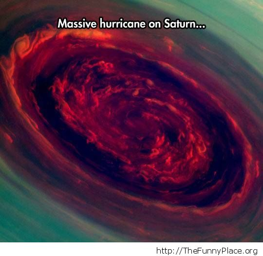 Saturn hurricane