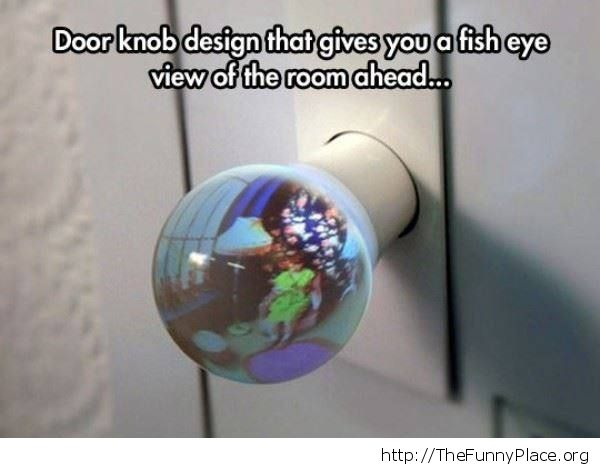 See through door knob