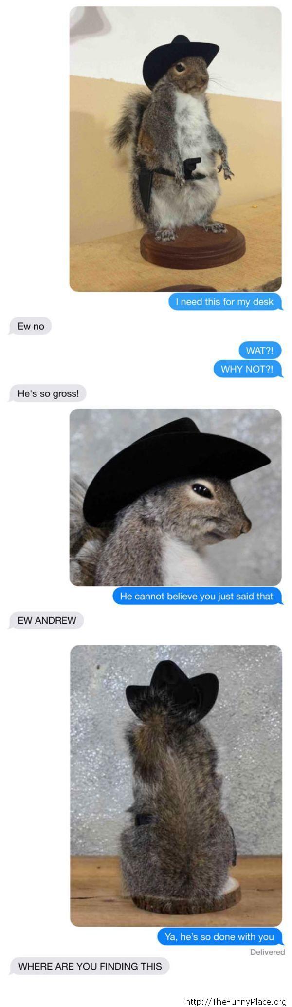 Stuffed squirrel