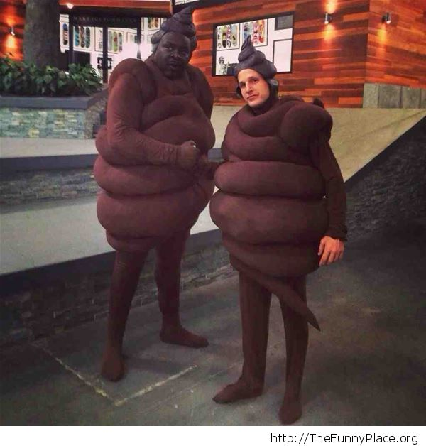 Turds on a sidewalk