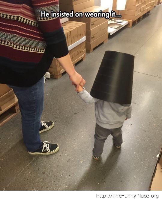 bucket helmet
