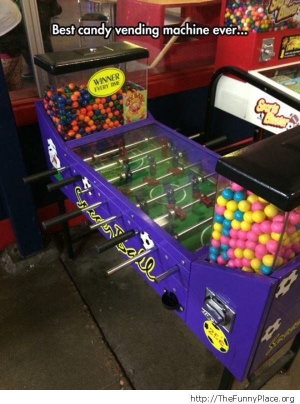 foosball candy machine