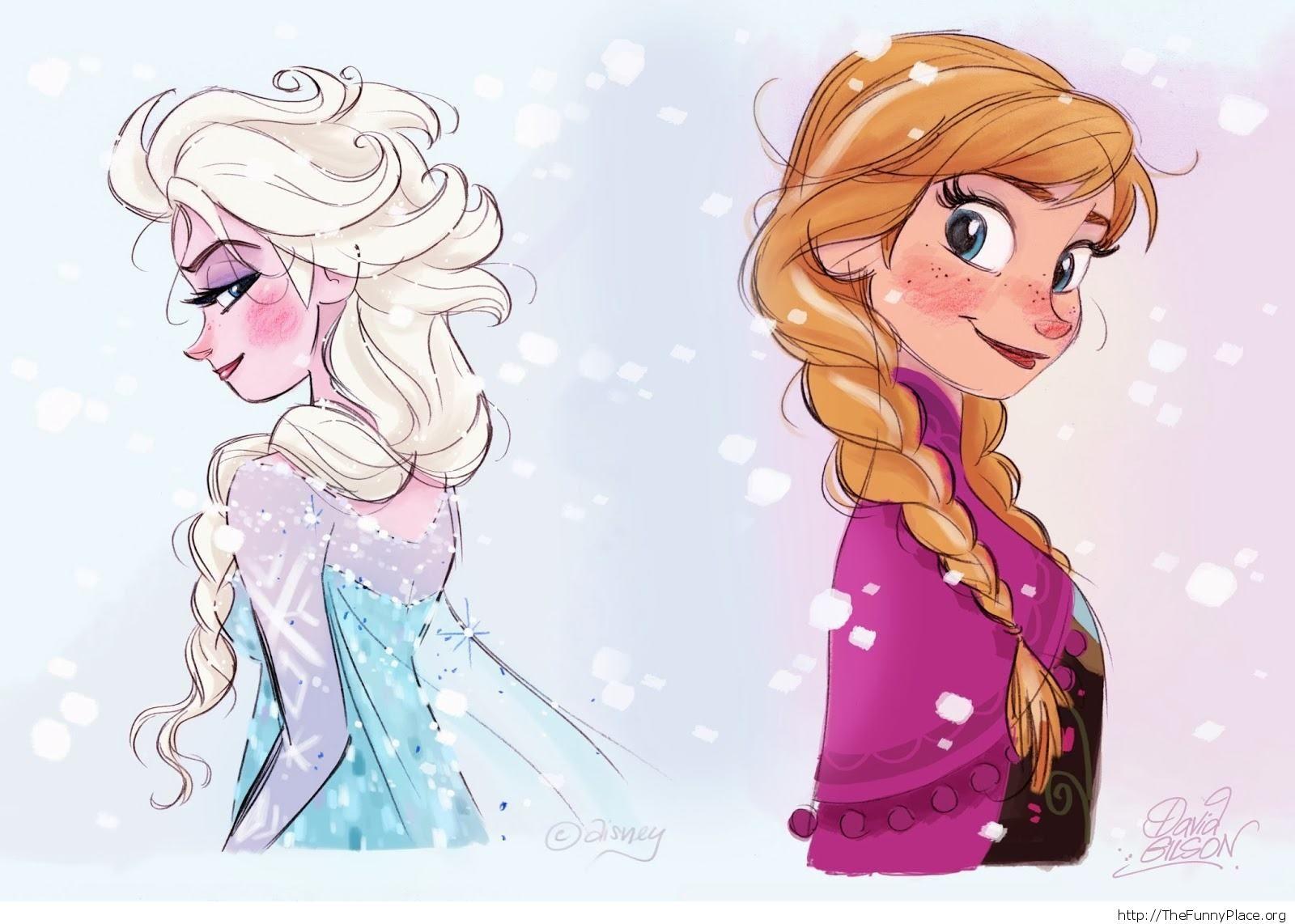 Elsa Anna wallpaper art image