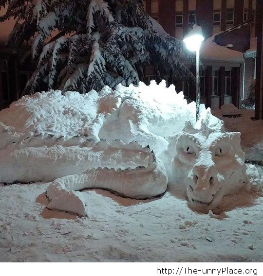 Epic snow dragon