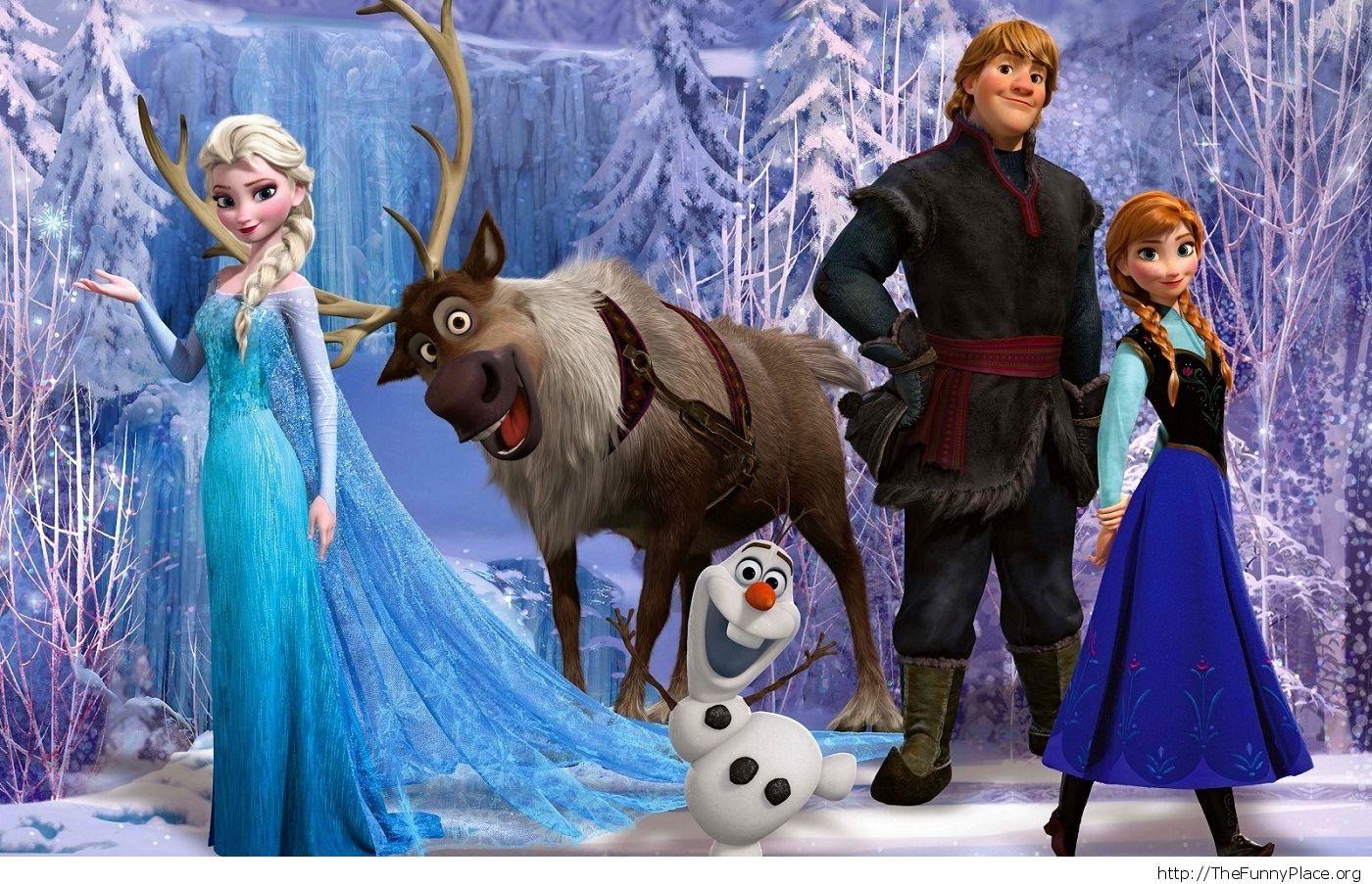 Frozen Disney Wallpaper Elsa Anna Kristoff