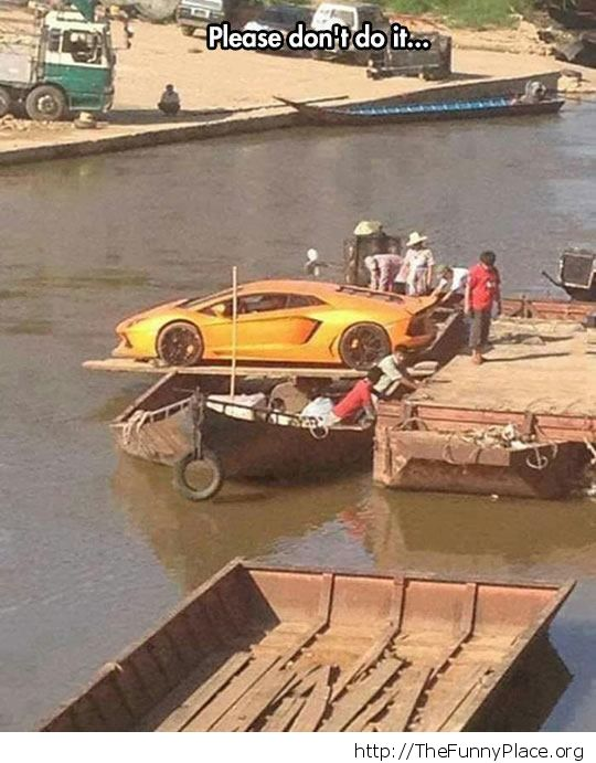 Lamborghini river cross