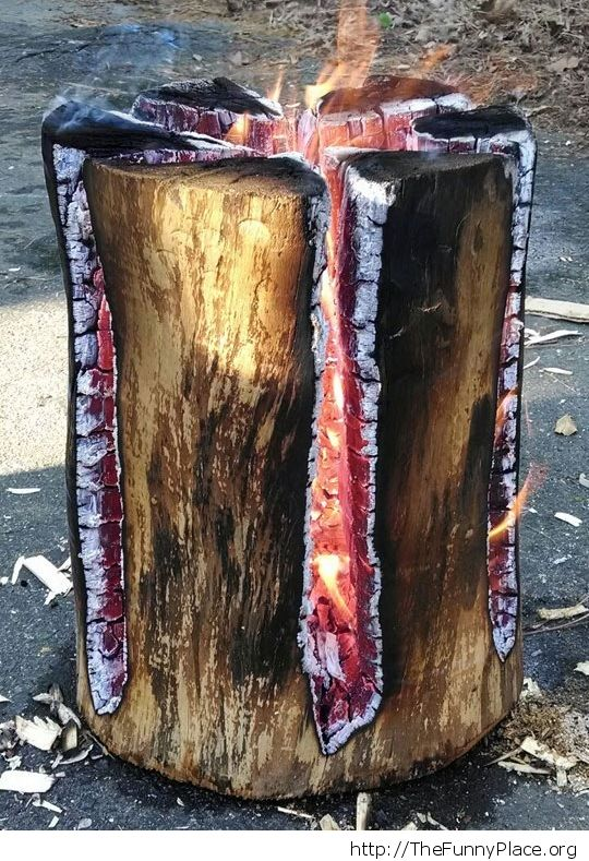 Slow-burning log