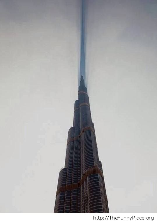 Talles building in the world cutting clouds