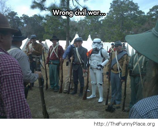 The noth had storm troopers