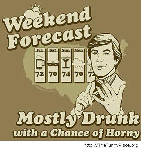 Weeknd forecast