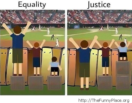 eguality vs justice