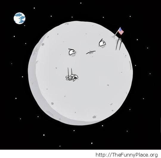 Angry moon