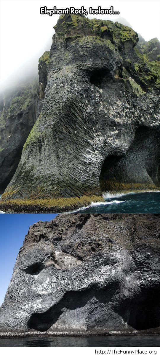 Awesome elephant rock