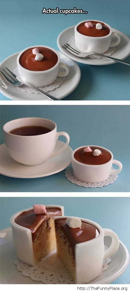 Coffe cup cupcakes
