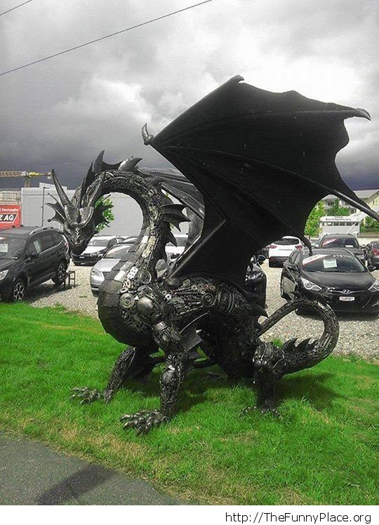 Cool metal dragon