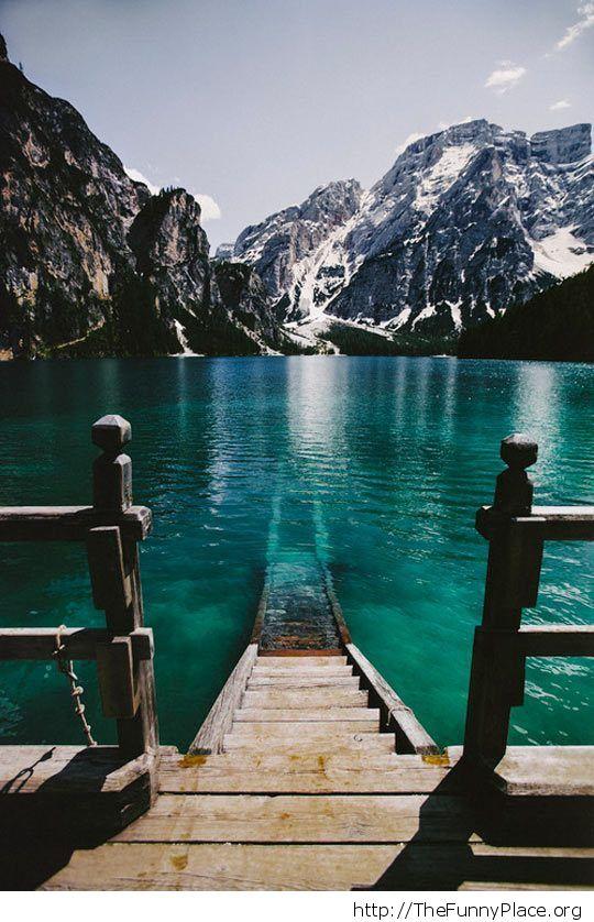 Epic mountain lake