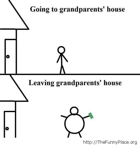 Leaving grandparent's house