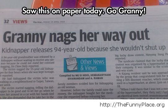 Nags her way out