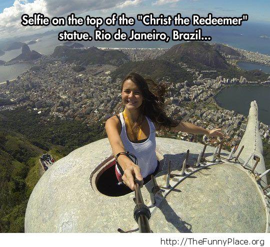 Selfie in Rio de Janeiro