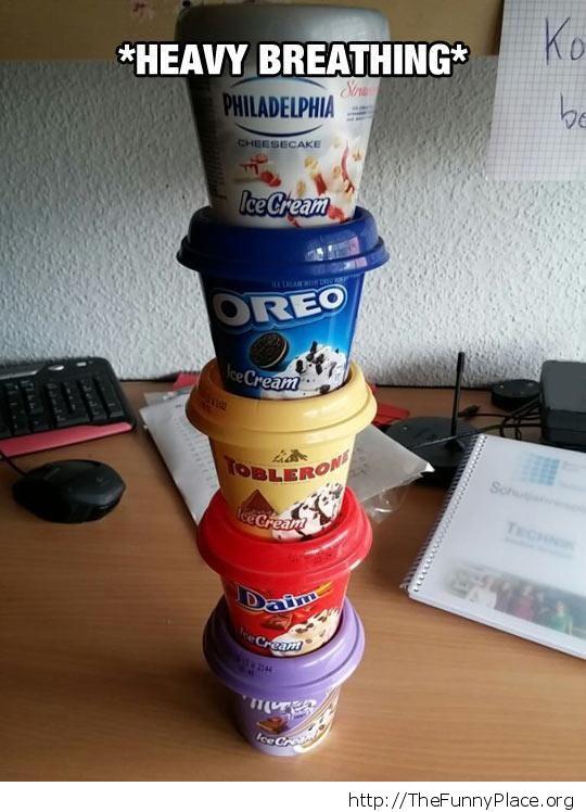Tower of ice-cream