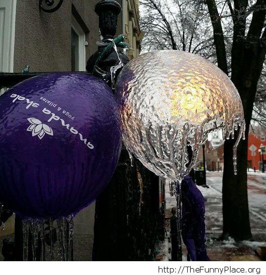 cool balloon ice