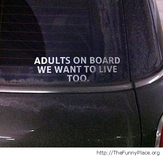 Adults on board