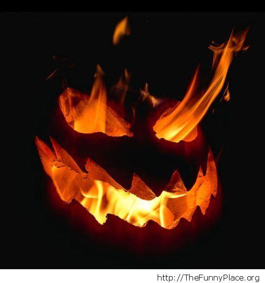 Burning pumpkins