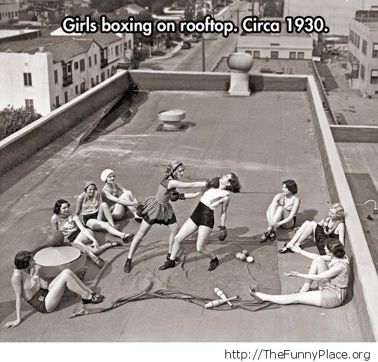 Girls where tougher back in the day