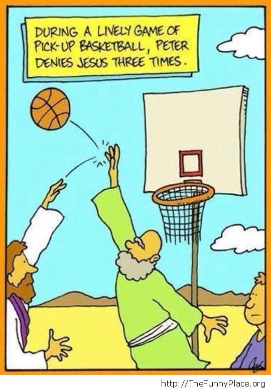 Jesus and bascketball