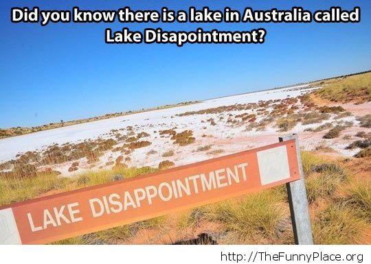 No lake