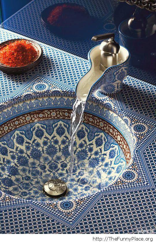 Stunning Moroccan sink