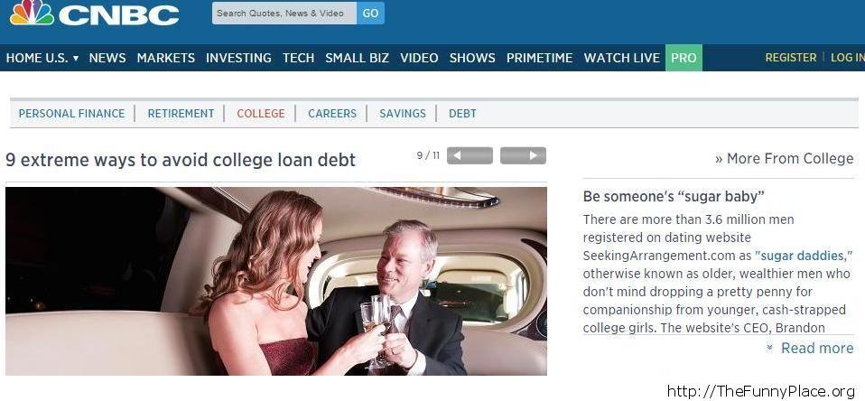 Avoinding student loan debt