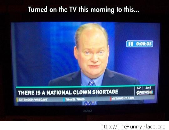 Clown shortage