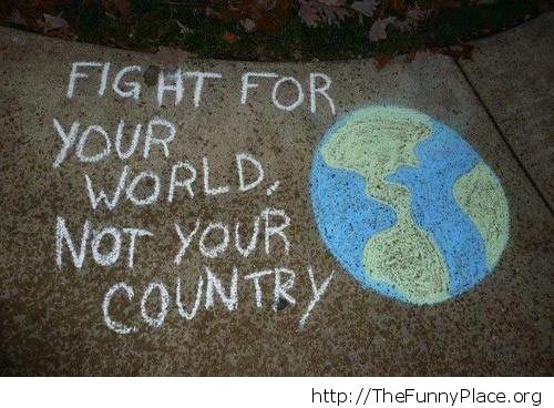 For your world